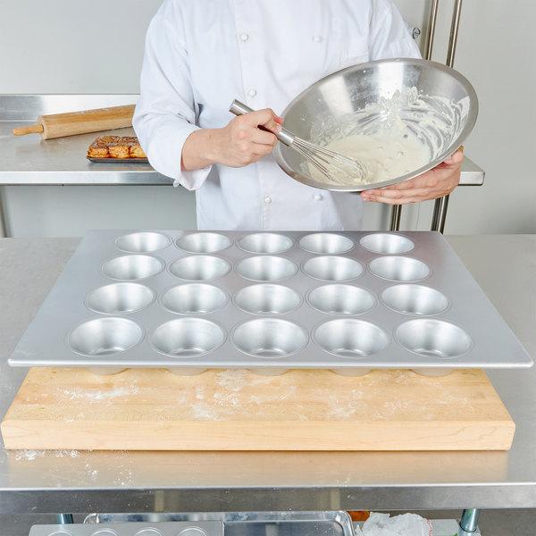 "20 Cup 8.2 oz. Glazed Aluminized Steel Jumbo Muffin Pan - 17 7/8"" x 25 7/8"" Main Image 2"