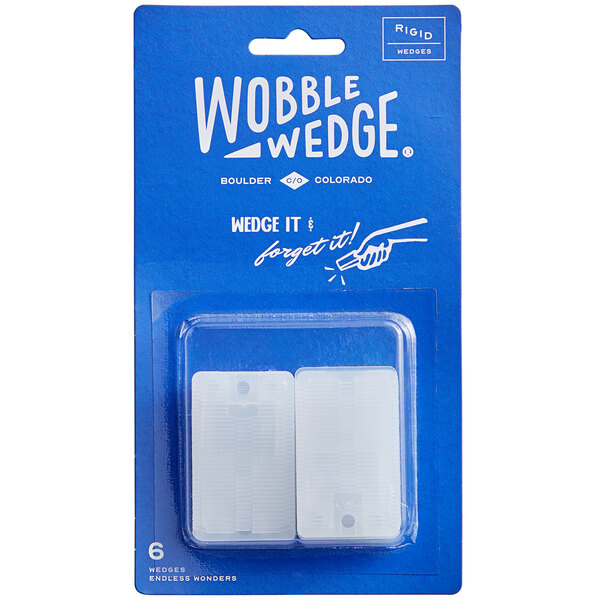 Wobble Wedge Tapered Translucent Hard Table Wedge / Table Stabilizer - 6/Pack Main Image 1