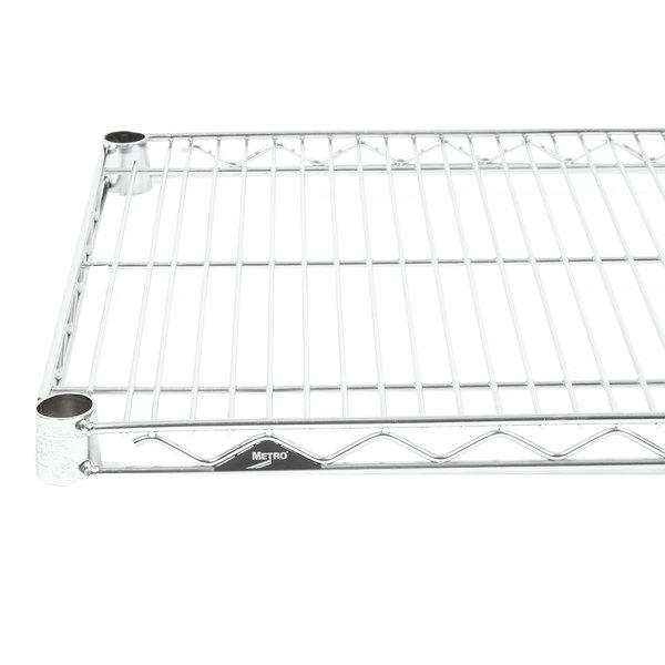 "Metro 1442NS Super Erecta Stainless Steel Wire Shelf - 14"" x 42"" Main Image 1"