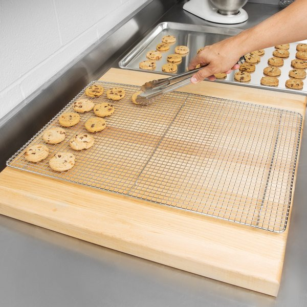 """16"""" x 24"""" Footed Wire Cooling Rack for Full Size Bun / Sheet Pan Main Image 4"""