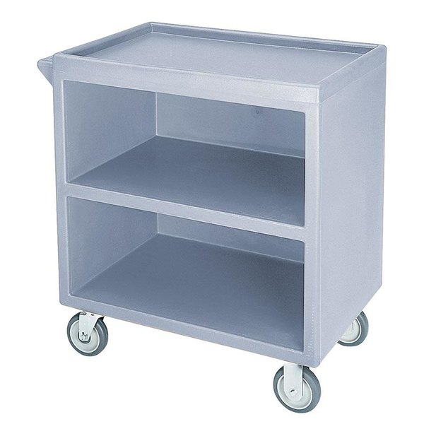 "Cambro BC3304S401 Slate Blue Three Shelf Service Cart with Three Enclosed Sides - 33 1/8"" x 20"" x 34 5/8"""