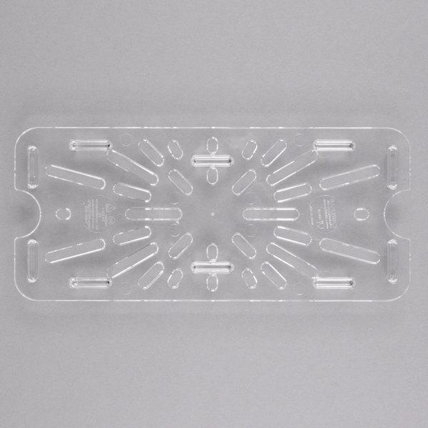 Carlisle 3067007 StorPlus 1/3 Size Clear Polycarbonate Drain Tray