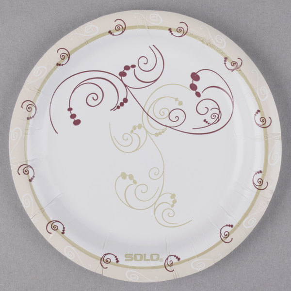 ... visually-appealing disposable plates for your foodservice needs then this Dart Solo HWP6-J8001 Symphony 6u201d heavy weight paper plate is perfect for you.  sc 1 st  WebstaurantStore & Dart Solo HWP6-J8001 Symphony 6