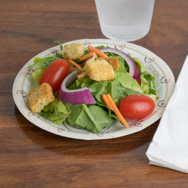 """Solo HWP6-J8001 Symphony 6"""" Heavy Weight Paper Plate - 250/Pack"""