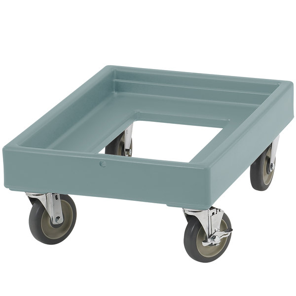 Cambro CD100401 Slate Blue Camdolly for Cambro Camcarriers and Camtainers Main Image 1