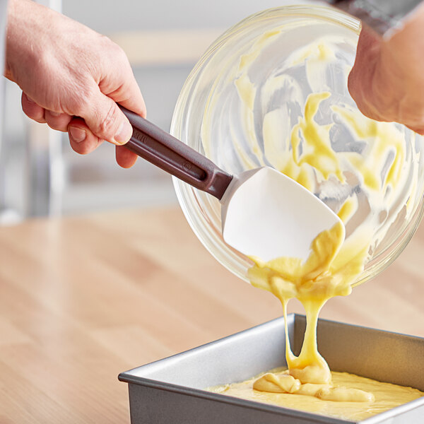 """Mercer Culinary M35115 Hell's Tools® 10 1/4"""" High Temperature Silicone Spoonula Main Image 2"""