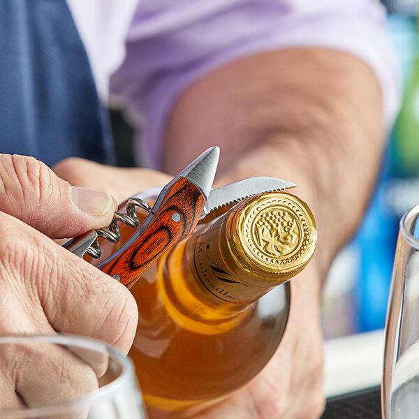Acopa Flex Waiter's Corkscrew with Mahogany Handle Main Image 3