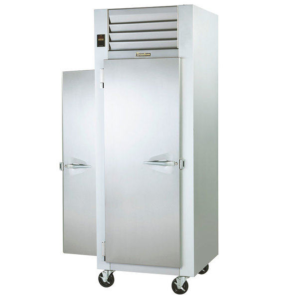 Traulsen G14315P 1 Section Pass-Through Solid Door Hot Food Holding Cabinet with Left / Right Hinged Doors