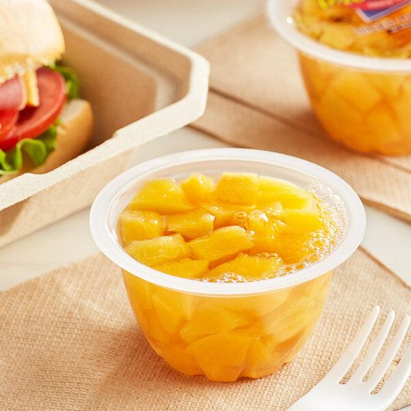 Premium Diced Peaches in Natural Juice 4.5 oz. Cups - 96/Case Main Image 2