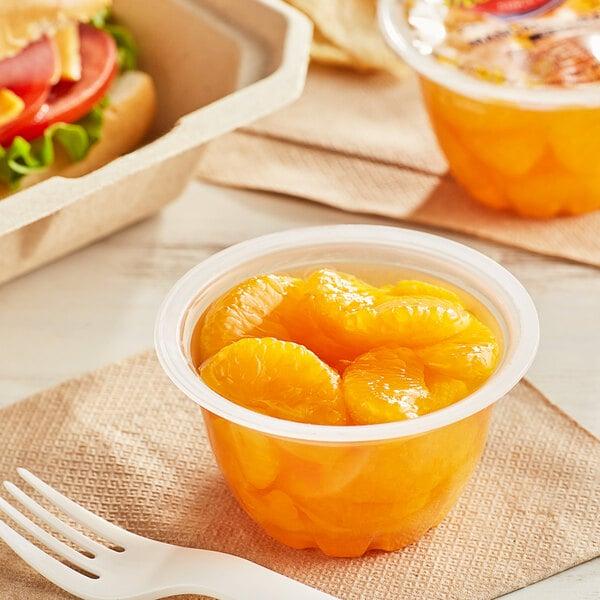 Premium Mandarin Oranges in Natural Juice 4.5 oz. Cups - 96/Case Main Image 2