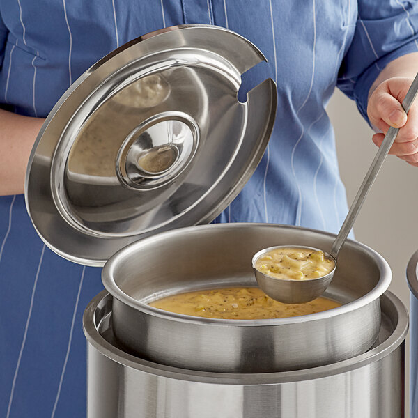 7 Qt. Stainless Steel Inset Kit with Cover and Ladle Main Image 3