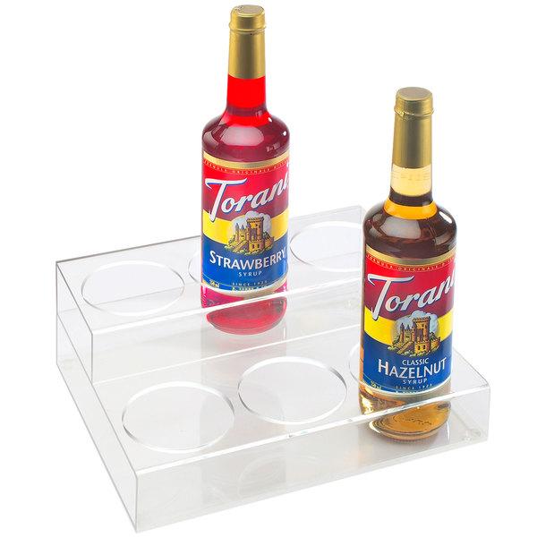 "Cal-Mil P295 Clear Acrylic 2 Tier Bottle Organizer- 12 1/4"" x 10"" x 4 1/2"""