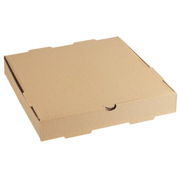 "Choice 12"" x 12"" x 2"" Kraft Corrugated Plain Bakery Box - 50/Case Main Image 1"