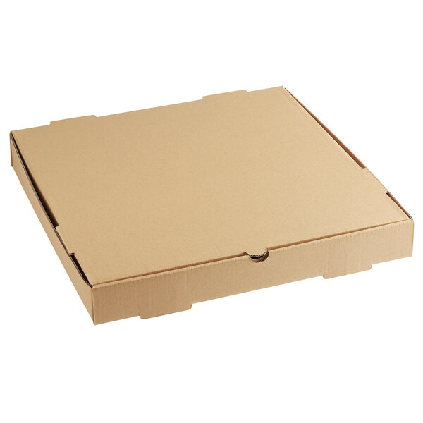 "Choice 16"" x 16"" x 2"" Kraft Corrugated Plain Bakery Box - 50/Case Main Image 1"