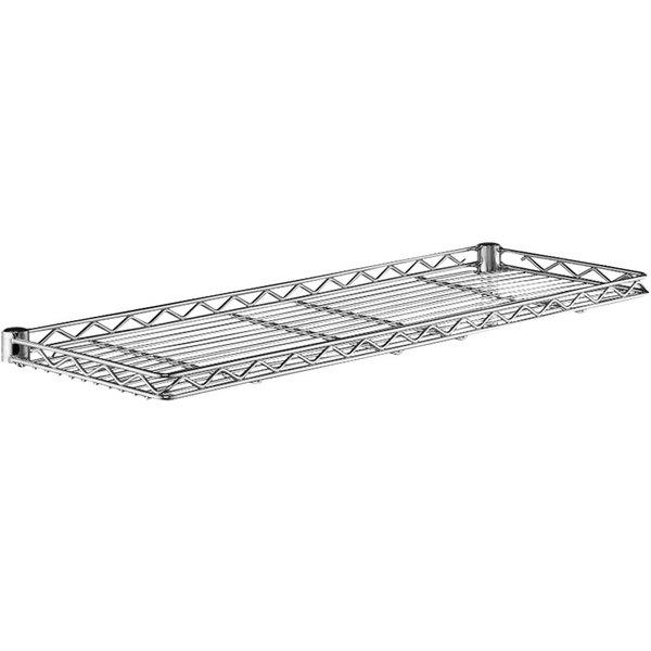 """Metro 1224CSNC Chrome Cantilever Shelf - 12"""" x 24"""" Main Image 1"""