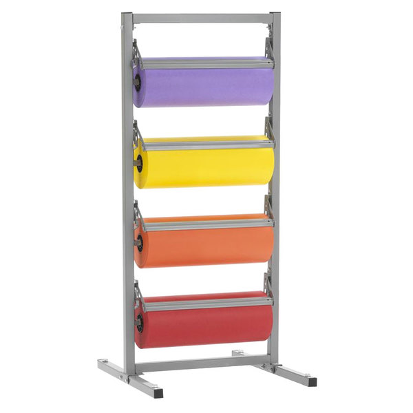 """Bulman T344R-15 15"""" Four Deck Tower Paper Rack with Serrated Blade"""