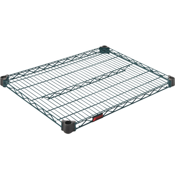 "Eagle Group QA2430VG 24"" x 30"" Quad-Adjust® Valu-Gard® NSF Green Epoxy Wire Shelf Main Image 1"
