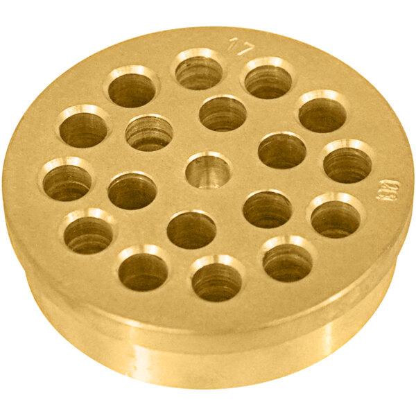 "Avancini #121 Penne Rigate Pasta Die / Extruder - 7mm (1/4"") Main Image 1"