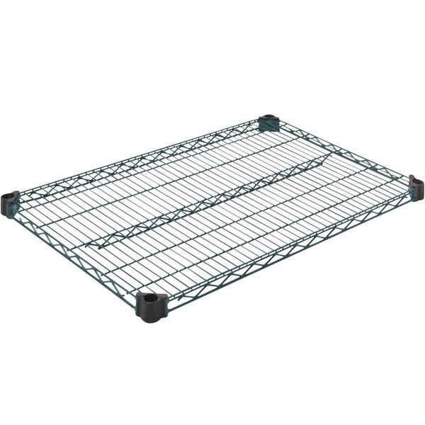 "Eagle Group QA2436VG 24"" x 36"" Quad-Adjust® Valu-Gard® NSF Green Epoxy Wire Shelf Main Image 1"
