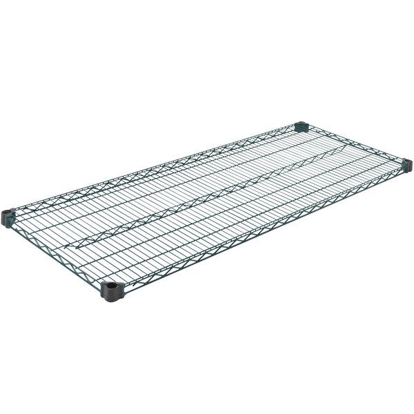 "Eagle Group QA2460VG 24"" x 60"" Quad-Adjust® Valu-Gard® NSF Green Epoxy Wire Shelf Main Image 1"
