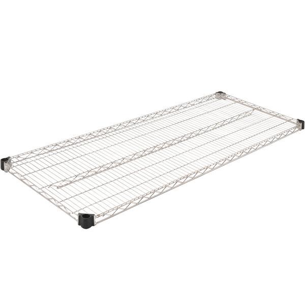 "Eagle Group QA2460C 24"" x 60"" Quad-Adjust® NSF Chrome Wire Shelf Main Image 1"