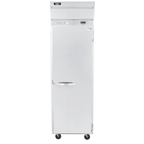 "Beverage-Air HR1-1S Horizon Series 26"" Top Mounted Solid Door Reach-In Refrigerator"