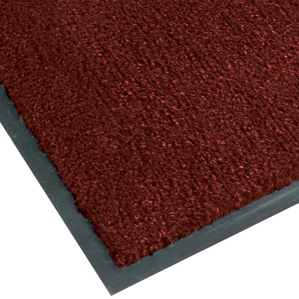 "Notrax T37 Atlantic Olefin 4468-132 4' x 10' Crimson Carpet Entrance Floor Mat - 3/8"" Thick"