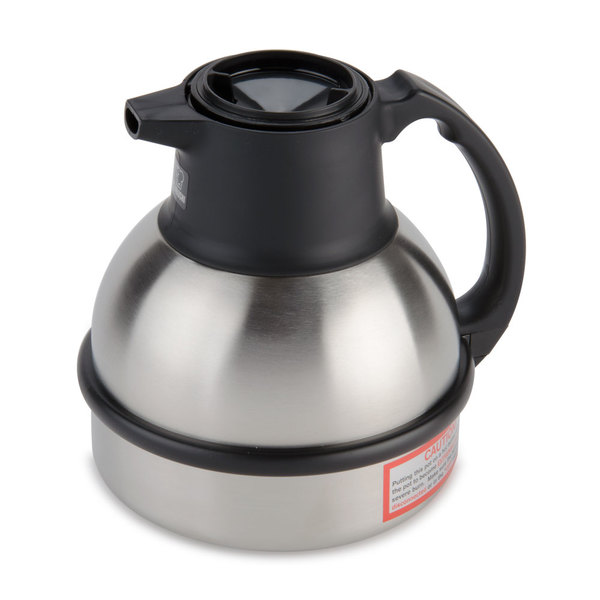 Bunn 36029.0000 Zojirushi 62 oz. Stainless Steel Deluxe Thermal Carafe with Black Top