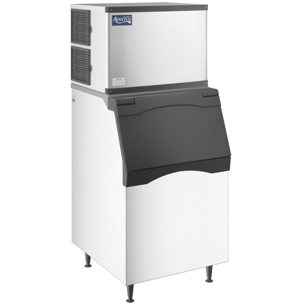 "Avantco Ice KMC-500-L3F 30"" Air Cooled Modular Full Cube Ice Machine with Ice Bin - 497 lb. Main Image 1"