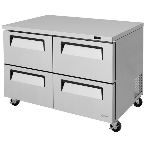 """Turbo Air TUF-48SD-D4-N Super Deluxe 48"""" Undercounter Freezer with Four Drawers Main Image 1"""