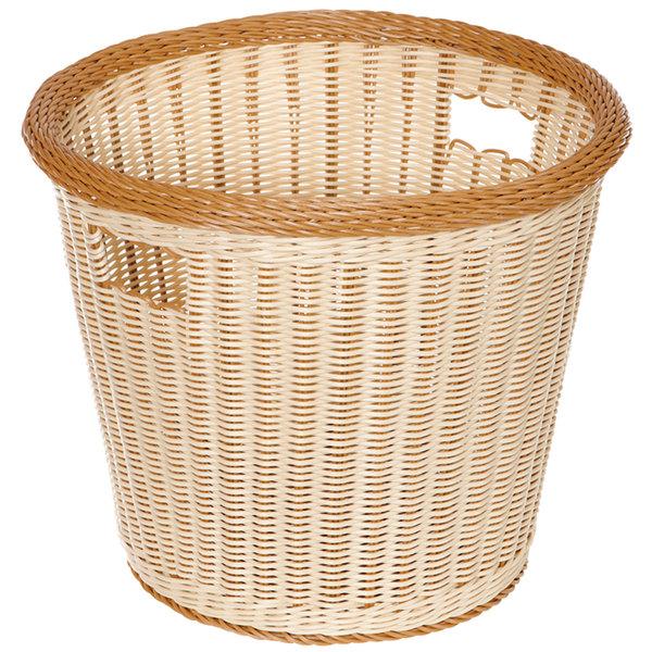 "GET WB-1522-TT Designer Polyweave Plastic Round Basket 14"" x 13"" - 6/Pack"