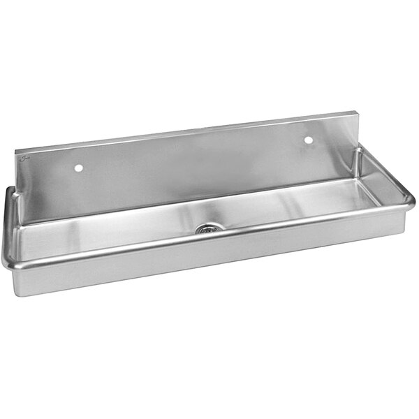 """Just Manufacturing J48202 Stainless Steel Wall Hung Multi-Station Surgeon Scrub Sink with 2 Faucet Holes - 45"""" x 16 1/2"""" x 8"""" Bowl Main Image 1"""