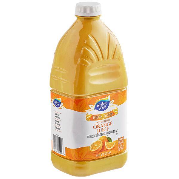 Ruby Kist 64 fl. oz. Orange Juice - 8/Case Main Image 1