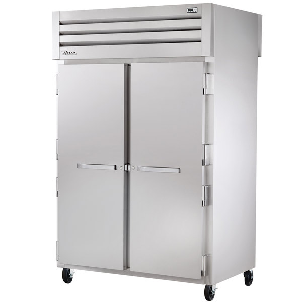 True STG2RPT-2S-2G Specification Series Two Section Pass-Through Refrigerator Solid Front Doors and Glass Rear Doors