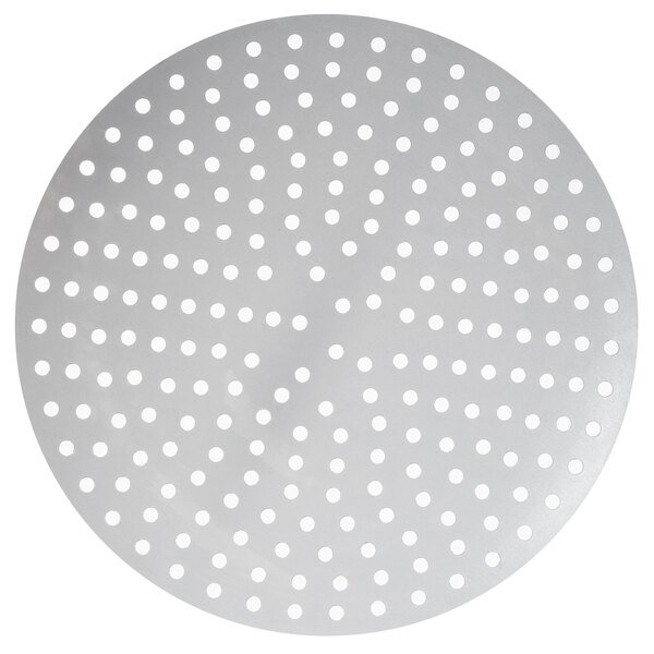 """American Metalcraft 18911P 11"""" Perforated Pizza Disk Main Image 1"""
