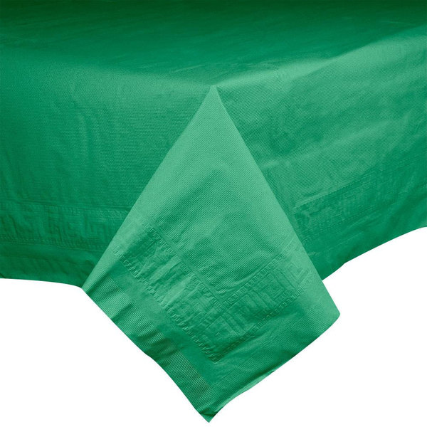 "Hoffmaster 220629 54"" x 108"" Cellutex Jade Green Tissue / Poly Paper Table Cover - 25/Case"