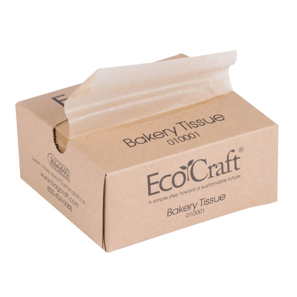 Bagcraft Packaging 010001 6 inch x 10 3/4 inch EcoCraft Bakery Tissue