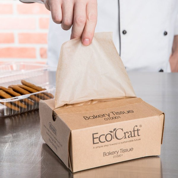 """Case of 10000 (10 Boxes of 1000) Bagcraft Papercon 010001 10 3/4"""" x 6"""" EcoCraft Bakery Tissue"""