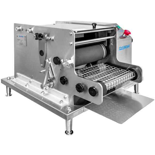 "Tortilla Masters TM105 Ventura Flex Countertop Corn Tortilla Machine with 6"" Cutter - 120V, 60W Main Image 1"