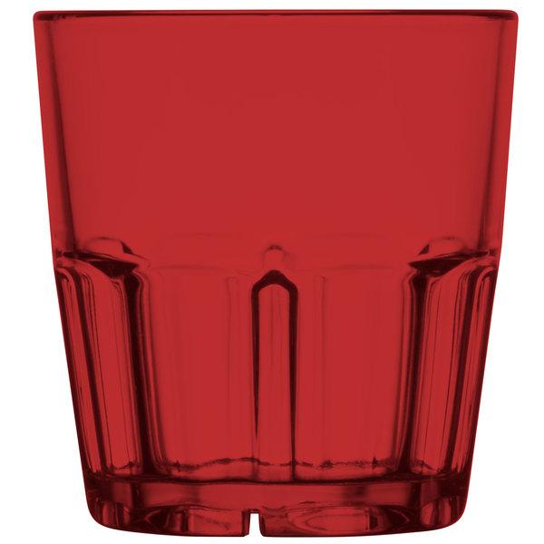GET 9909-1-R Bahama 9 oz. Red Break-Resistant Plastic Tumbler - 72/Case