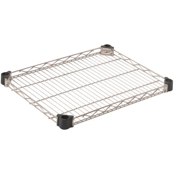"Eagle Group QAR1824C 18"" x 24"" Quad-Adjust® NSF Chrome Reverse Mat Wire Shelf Main Image 1"