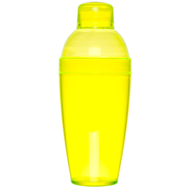 Fineline Quenchers 4103-Y 14 oz. Yellow Plastic Shaker - 24/Case