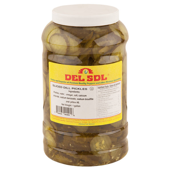 Del Sol Kosher Dill Pickle Chips 1 Gallon