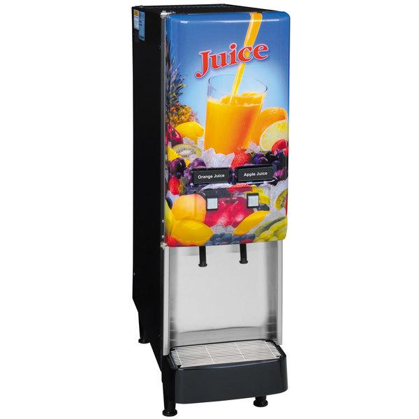 Bunn 37900.0008 JDF-2S 2 Flavor Cold Beverage Juice Dispenser with Lit Door