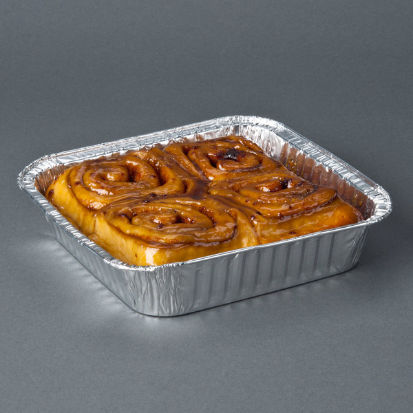 "Durable Packaging 1155-35 8"" Square Foil Cake Pan - 500/Case Main Image 7"