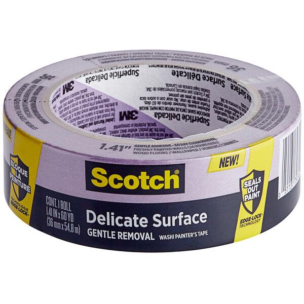 """3M Scotch 1 3/8"""" x 60 Yards Purple Delicate Surface Painter's Tape 2080-24EC Main Image 1"""