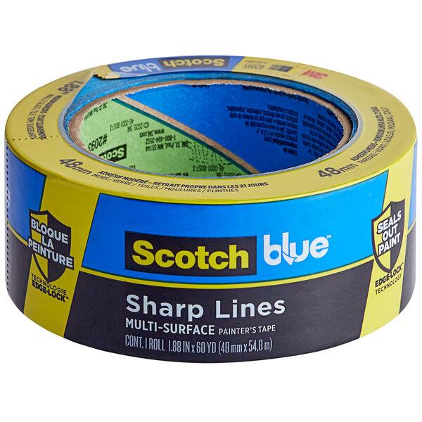 "3M Scotch 1 7/8"" x 60 Yards Blue Sharp Lines Painter's Tape 2093-48NC Main Image 1"