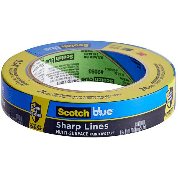 "3M Scotch 15/16"" x 60 Yards Blue Sharp Lines Painter's Tape 2093-24NC Main Image 1"