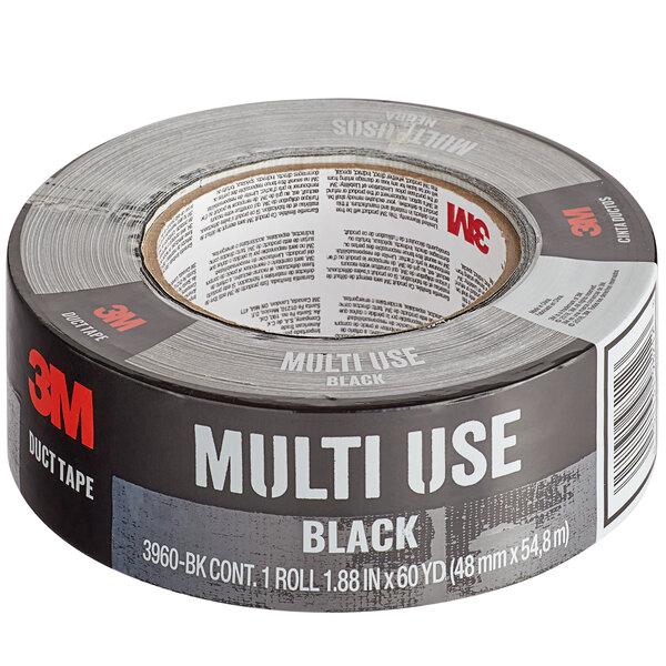 "3M 3960-BK 1 7/8"" x 60 Yards Black Multi-Use Duct Tape Main Image 1"
