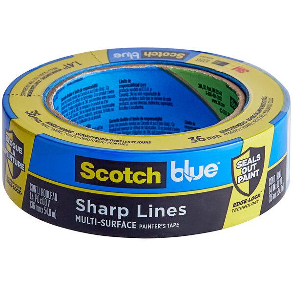 "3M Scotch 1 3/8"" x 60 Yards Blue Sharp Lines Painter's Tape 2093-36CC Main Image 1"